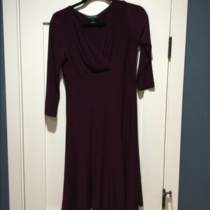 Lauren Ralph Lauren Dress size 4 merlot